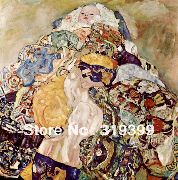 Gustav Klimt  Oil Painting reproduction on Linen Canvas,Baby,Free DHL shipping ,handmade,Museum QualityGustav Klimt  Oil Painting reproduction on Linen Canvas,Baby,Free DHL shipping ,handmade,Museum Quality