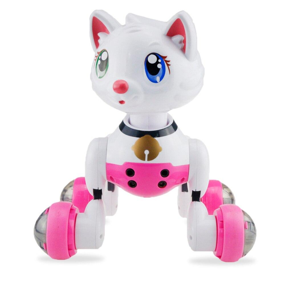 Control de voz inteligente gato Robot danza con la música cantar electrónico Pet incorporado luz automática siguiente función de dormancia