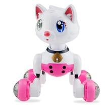 Умный голосовой контроль кошка робот танец с музыкой поет электронный питомец встроенный свет автоматический следующий режим функция покоя