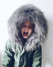 Thick Winter 2016 Kids Jackets Coats arm green Hooded Faux Fur Collar Children Clothing Cotton Padded Snowsuit Baby Girls boy