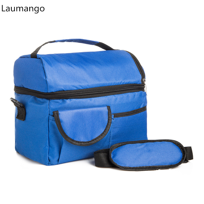 2 Layers Insulated Cooler Bag Thermal Lunch Box Picnic Food Storage Tote Bag Wholesale Bulk Lot Accessory Supply Product