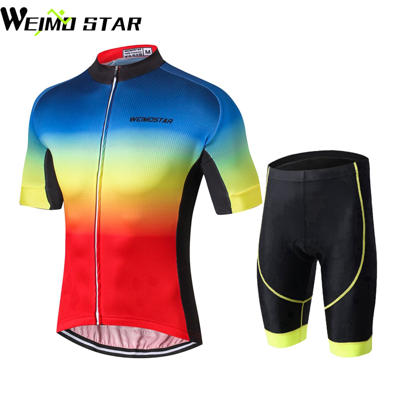WEIMOSTAR Team Men PRO Bike Sports Ropa Ciclismo Cycling Jersey Short Sleeve Short Cycling Clothing Tops Bib Shorts Sets S-XXXL