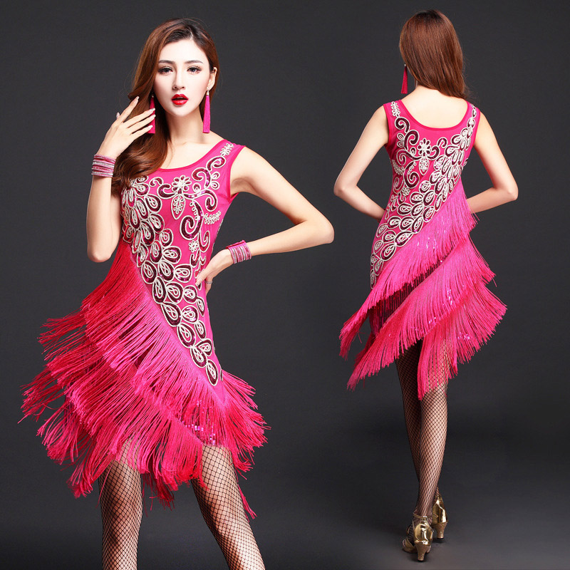 c7881933201a 2018 New Sexy Latin Dance Dress For Woman/Lady Red Blue Rose Competitive  Cha cha