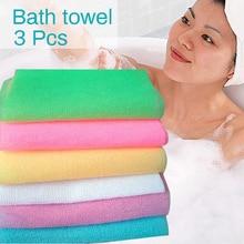 Hot Nylon Wash Cloth Bath Towel Beauty Body Skin Exfoliating Shower Bathroom Washing DAG-ship Free Shipping
