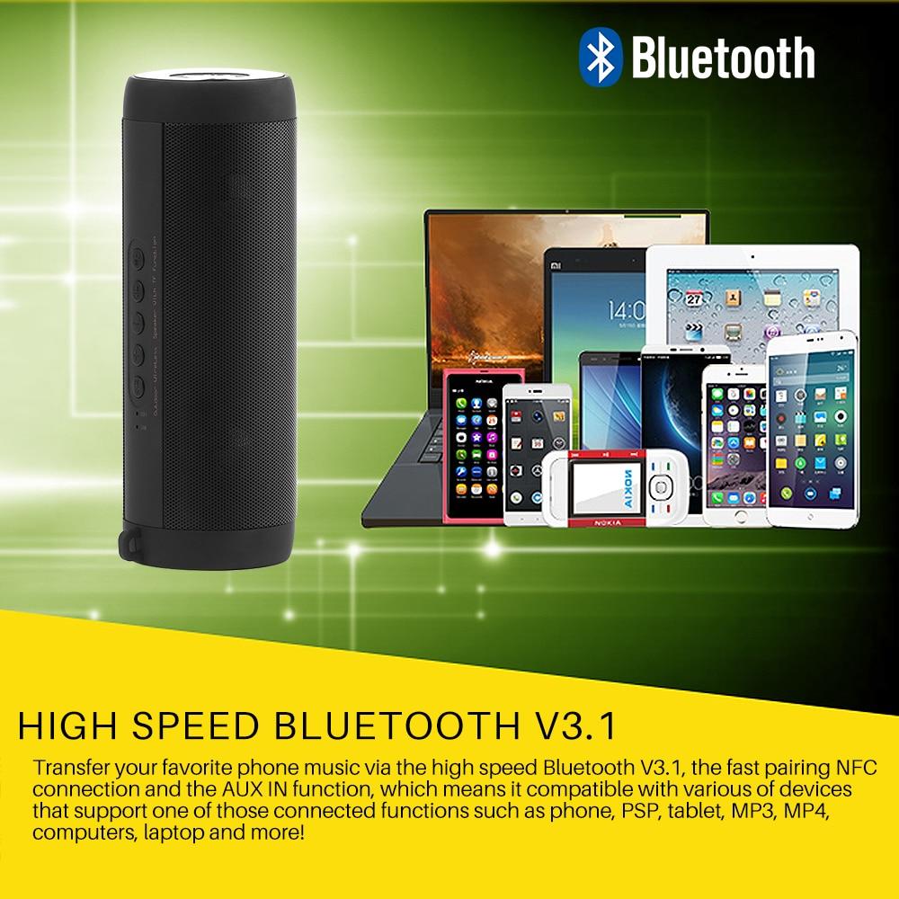 US $20 49 18% OFF RAIN T2 Outdoor Portable Bluetooth Speaker Wireless  Waterproof Speaker Mini Speaker Mp3 Player Support FM Radio Speaker TF  Card-in