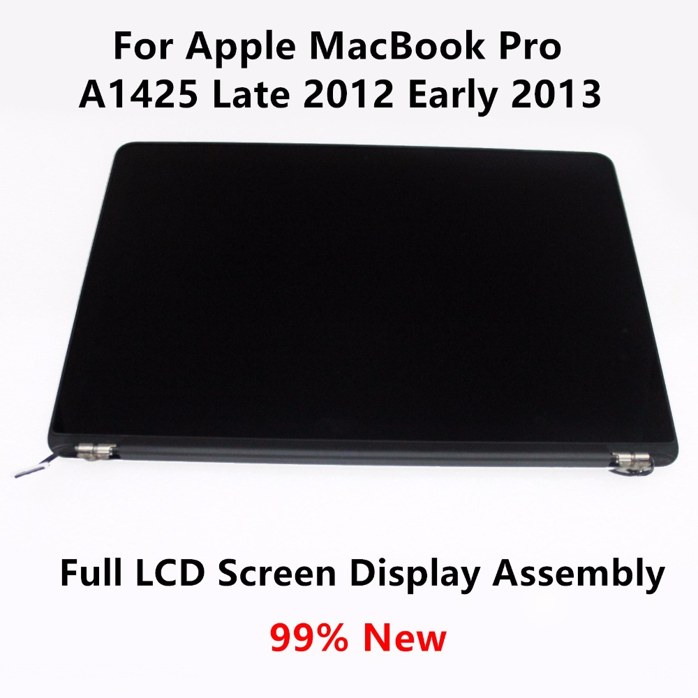 99% New Full LCD <font><b>Screen</b></font> Display Assembly Retina+Cover+Frame for Apple MacBook Pro <font><b>A1425</b></font> Late 2012 Early 2013 ME662 EMC 2672 image