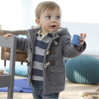 Cotton Baby Clothes 2017 Winter Children Coat Thicken Baby Boy Outerwear Fashion Horn Button Parka Longsleeve