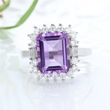 2019 new-designed 925 sterling silver natural amethyst purple crystal adjustable gemstone jewelry ring for female tbj natural african amethyst lady gemstone ring good luster amethyst ring for women in 925 silver gemstone jewelry gift jewelry