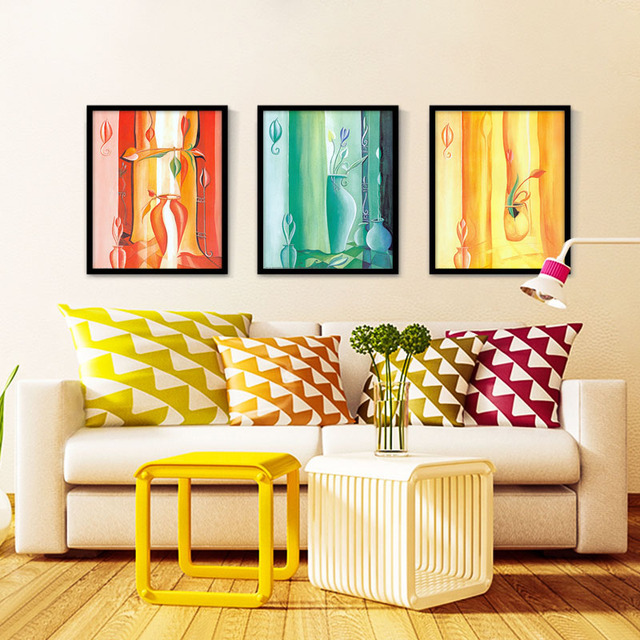 Colorful Vase Canvas Oil Painting Wall Picture Prints Decorative ...