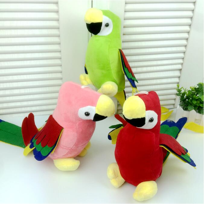 1pc 48cm  Cute Long Tail Parrot Plush Toy Stuffed Colorful Birds Dolls Plush Animal Pendant with sucker Home Car Decoration Gift stuffed animal 44 cm plush standing cow toy simulation dairy cattle doll great gift w501