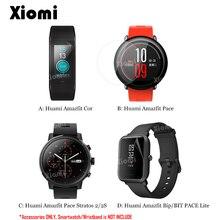 Suave TPU de protección película/templado de vidrio para reloj inteligente Xiaomi Huami Amazfit ritmo/Cor/Bip poco ritmo lite/Stratos ritmo 2/2 s-@