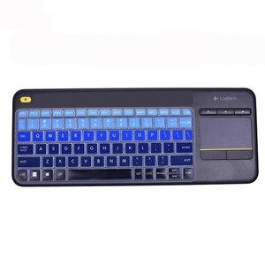 Epsl водонепроницаемый пылезащитный беспроводной чехол для клавиатуры для Logitech K400 PLUS профессиональная ультратонкая Защитная пленка для кла...
