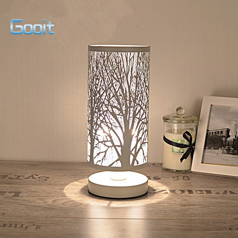 Aliexpress.com : Buy Table Lamp Modern Forest Stainless Steel High Grade  Eyeshield Desk Lamp For Home Bedroom Living Room Decoration Bedside Lamp  From ...