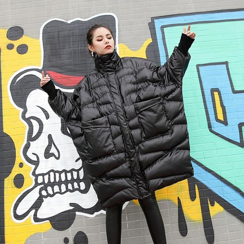 8f0ad794bf3 Vêtements Veste De Chauve Nouvelle Surdimensionné Manteau Arrivée souris  Parka Lâche Black Grande 2019 Coton Rembourré D hiver Femmes Taille ...