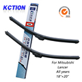 "Car windshield wiper blade para mitsubishi lancer, 18 ""+ 20"", limpador de silicone, bracketless limpa, Acessórios do carro"