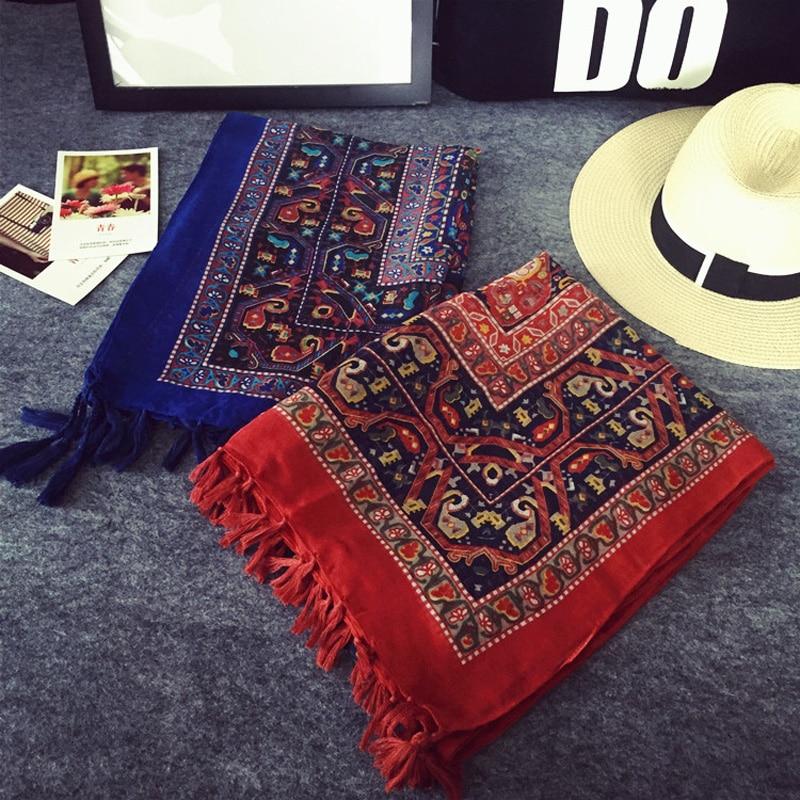 21508ab0353 Nepal Ethnic Style Brand Blanket Neck Tassel Cotton Scarf Shawl for Women  Foulard Fashion Bandana and Pashmina Echarpe muffler-in Women's Scarves  from ...