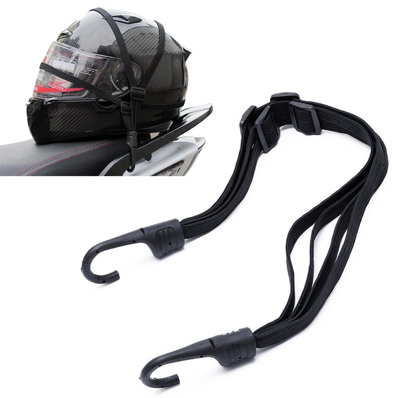 2 Hooks Motorcycles Moto Strength Retractable Helmet Luggage Elastic Rope Strap