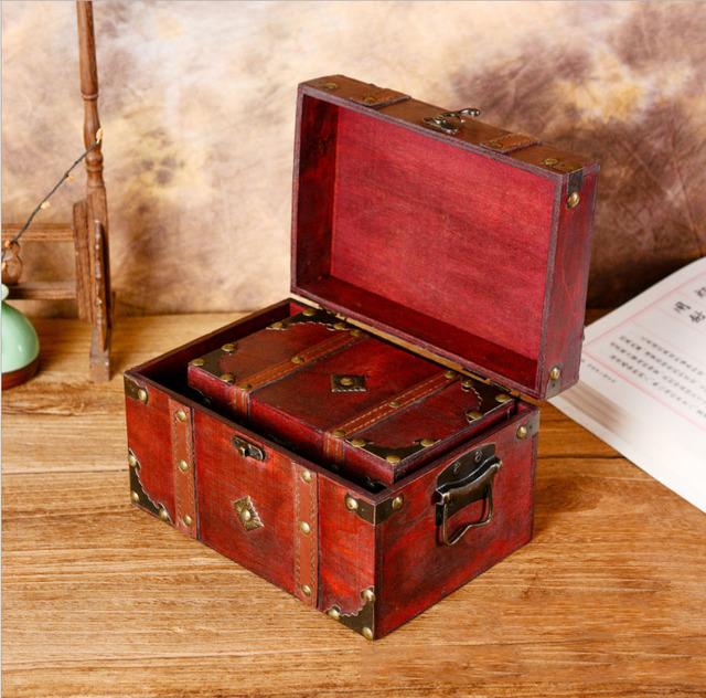 Coleccion de Baules de madera Vintage modelo rectagunlar dos tamaños
