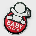 Safety Sign Baby in Car Car Sticker with Graphic Design Mount The Decal On Any Smooth Surface Auto Decal Alluminum Alloy