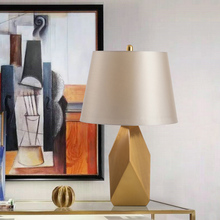 Modern Golden Table Lamps For The Bedroom Bedside Table Lamp Home Deco Fabric Desk Lamp Cover Living Room Hotel Light Fixture