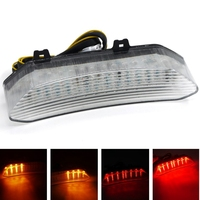 High Quality Clear Smoke Motorcycle LED Rear Tail Turn Signal Light Lamp Taillight For Yamaha 2002