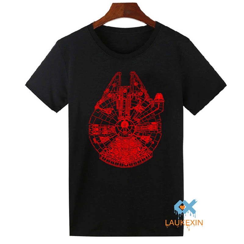 Star wars t shirt vintage millennium falcon adult unisex for Vintage star wars t shirts men