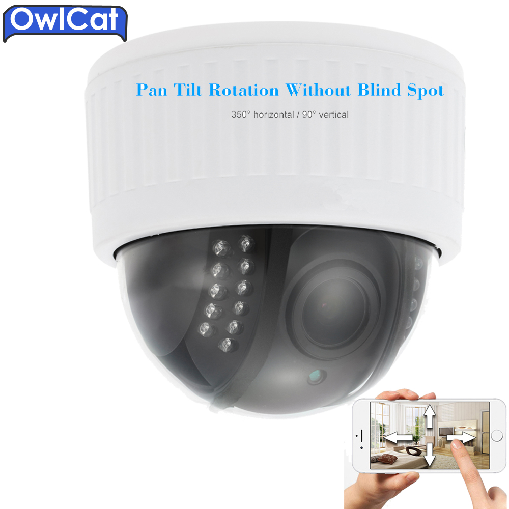 Owlcat Indoor Dome 1080P PTZ IP Camera Wireless WIFI Security Camera 5X Zoom Microphone Audio Night Vision Onvif P2P SD Card rxd free ship p2p ip camera 720p hd wifi wireless baby monitor ptz security camera onvif cloud night vision micro sd card