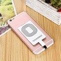 Branco Qi Padrão Receptor Carregador Sem Fio Do Telefone Móvel Etiqueta Para iphone 5 6 7 6 s plus + capa protetora de plástico caso