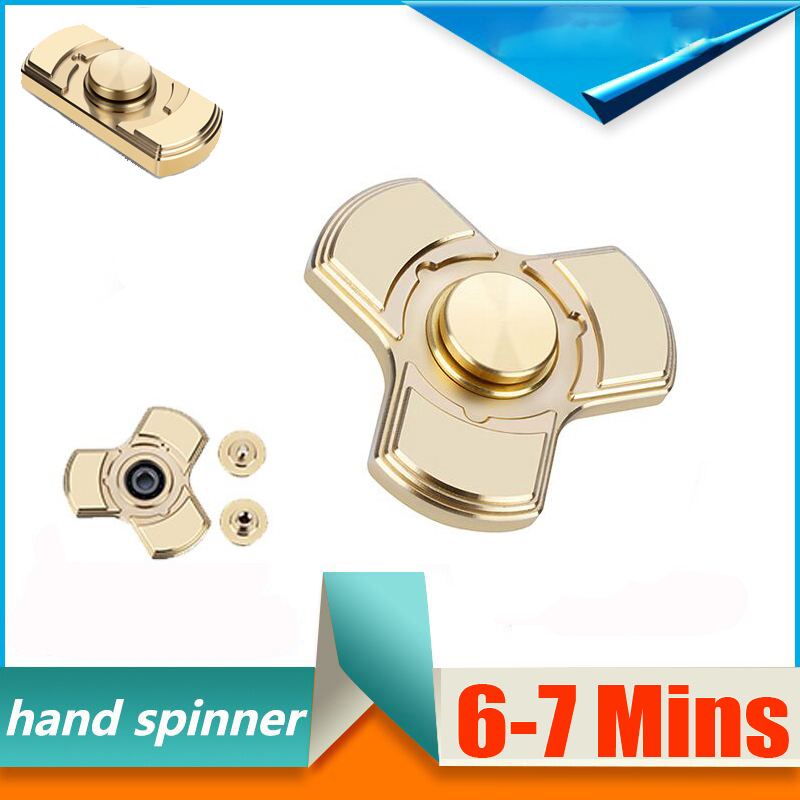 Creative Ceramic Bearing Tri-Spinner Fidget Toy EDC Hand Spinner for Autism and ADHD Stress Relieve Toy 6-7 Mins creative ceramic tri spinner fidget toy edc hand spinner for autism and adhd stress relieve toy rotation time beyond 6 minutes