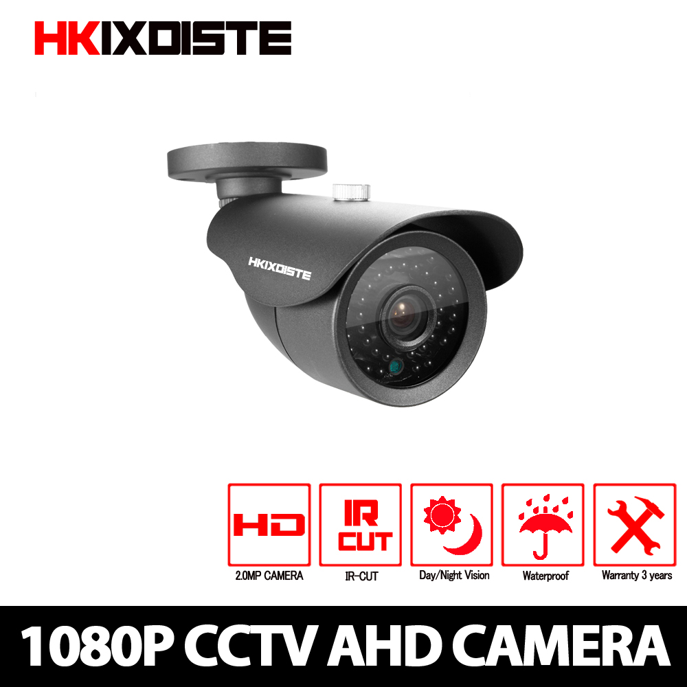 HD Analog Waterproof Outdoor 2MP AHD Camera 1080P CCTV Camera Night Vision Security Cam IR Cut Work For AHD DVR Recorder hd 1200tvl 720pccd sensor 36 ir cut outdoor night vision security waterproof bullet camera 16ch ahd dvr recorder surveillance