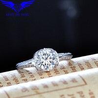 MOISSANITE RING/ DIAMOND RING/VINTAGE STYLE RING/SPLIT SHANK RING/14K WHITE GOLD 1.0CT