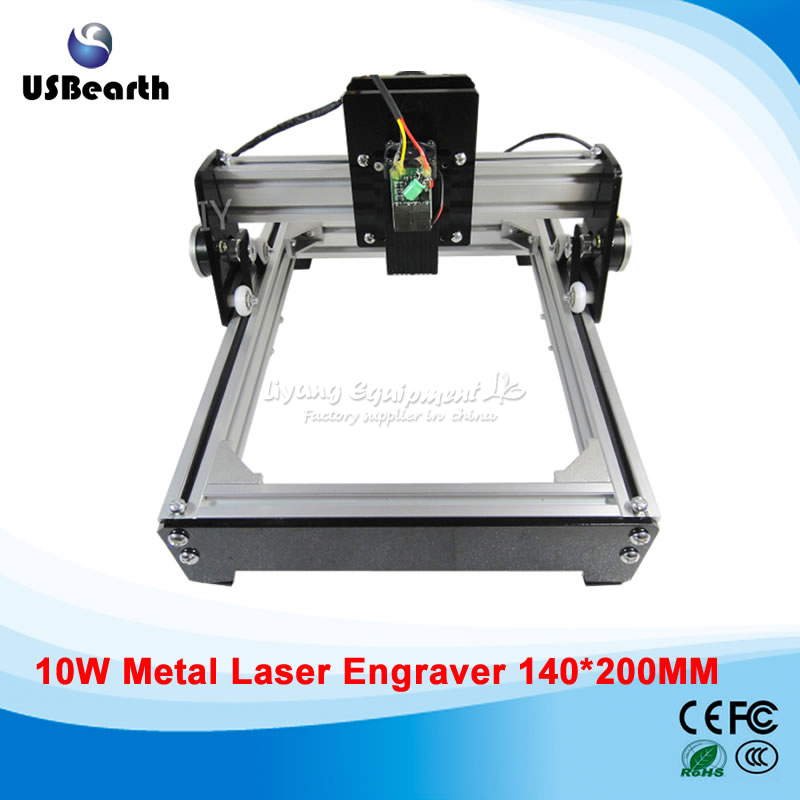 Russia tax free 10W laser 10000MW engraving machine 14*20cm metal engraver marking machine metal engraving machine 3040 engraver 800w cnc machine to eu country free tax