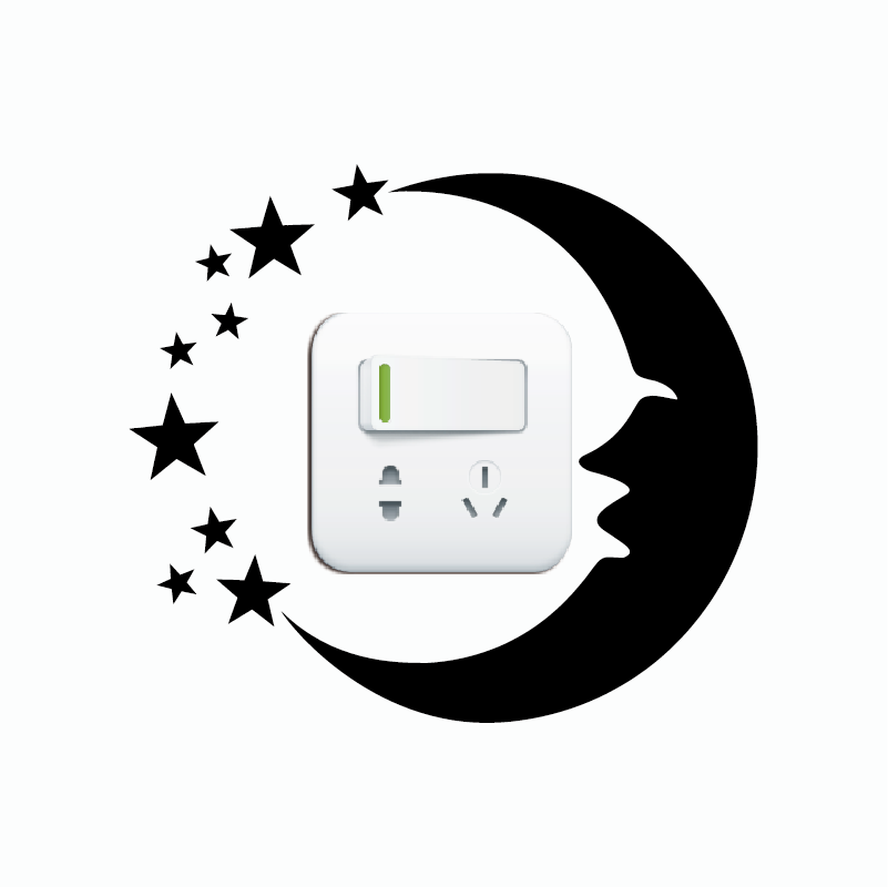 KG-243 Moon And Stars Vinyl Light Switch Sticker Creative Cartoon Silhouette Wall Sticker Home Wallpaper
