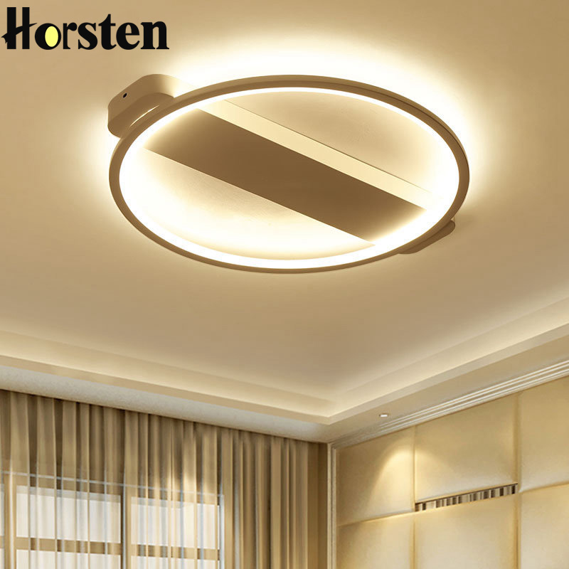 Horsten Modern Minimalism 62cm 36W Acrylic LED Ceiling Light Black White Ring Creative Bedroom Kitchen Living Room Ceiling Lamp noosion modern led ceiling lamp for bedroom room black and white color with crystal plafon techo iluminacion lustre de plafond