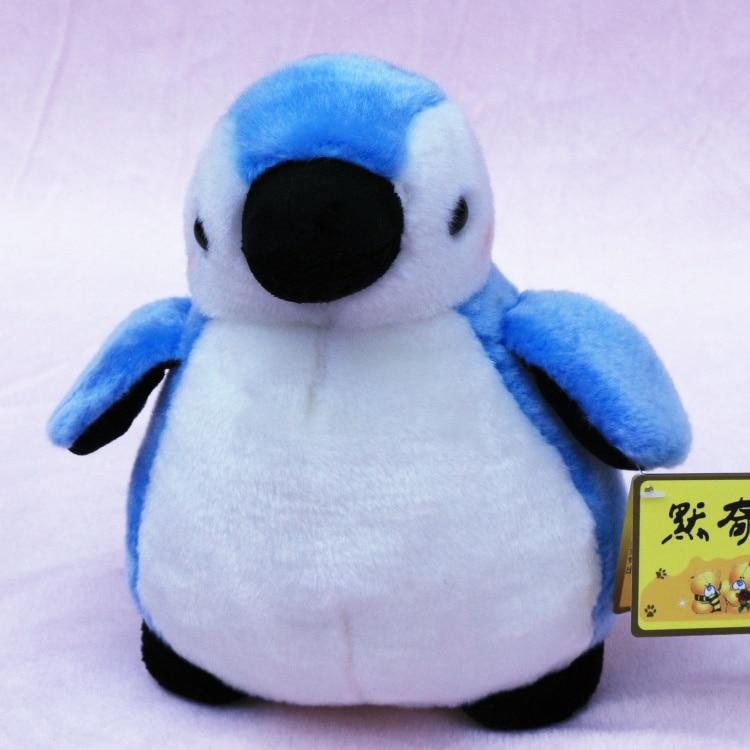 Grand nouveau peluche mignon pingouin jouet de haute qualité bleu pingouin poupée cadeau environ 35 cm