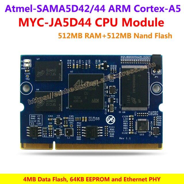 MYC-JA5D44 CPU Module,600MHz SAMA5D42/44 ARM Cortex-A5 Processors,512MB DDR2 SDRAM,512MB Nand Flash, 4MB Data Flash, 64KB EEPROM