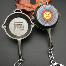 Game PUBG Level 3 saucepan Keychain Playerunknown's Battlegrounds Surrounding Weapons Alloy Cosplay Props Pendant New