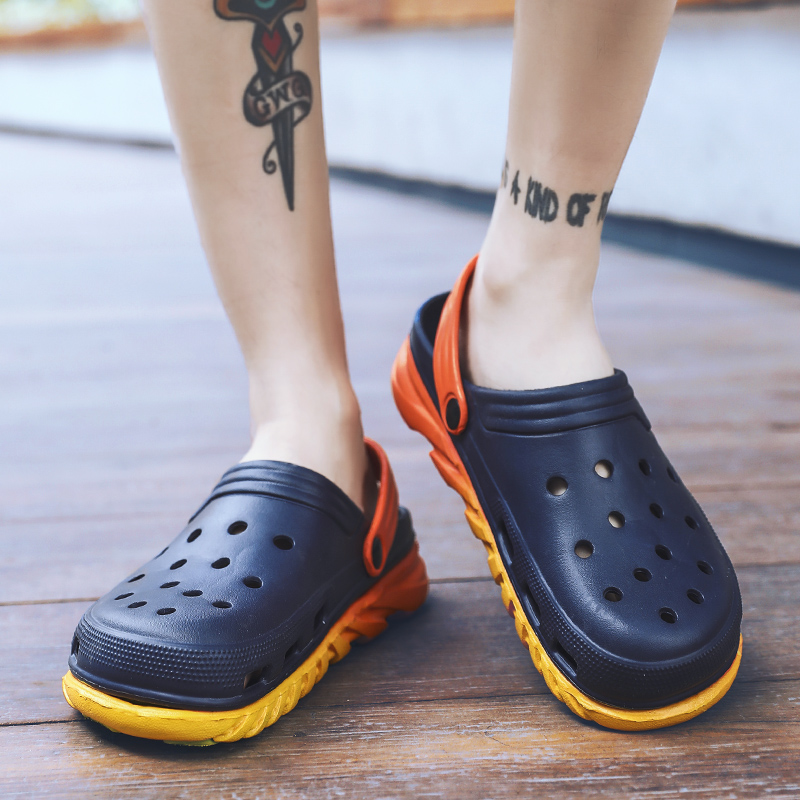 Unisex Aqua Shoes Hole Water Shoes For Men Women Summer Breathable Casual Sandals Fashion Beach Fishing Clogs Shoes Sandalias in Upstream Shoes from Sports Entertainment