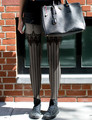 Princess gothic lolita pantyhose for height 150-168cm Sexy lace condole belt Bowknot  vertical stripes show thin pantyhose LKW33