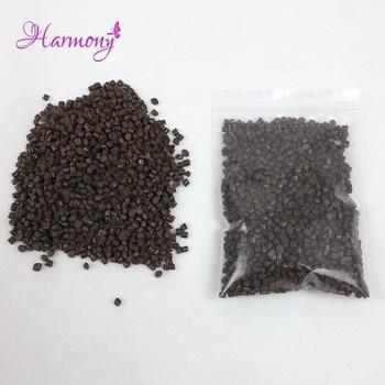 500g/bag brown Color Strong Adhesion 100% real Italian Keratin Glue /beads/grain for I tip/  U-tip hair, Fushion glue