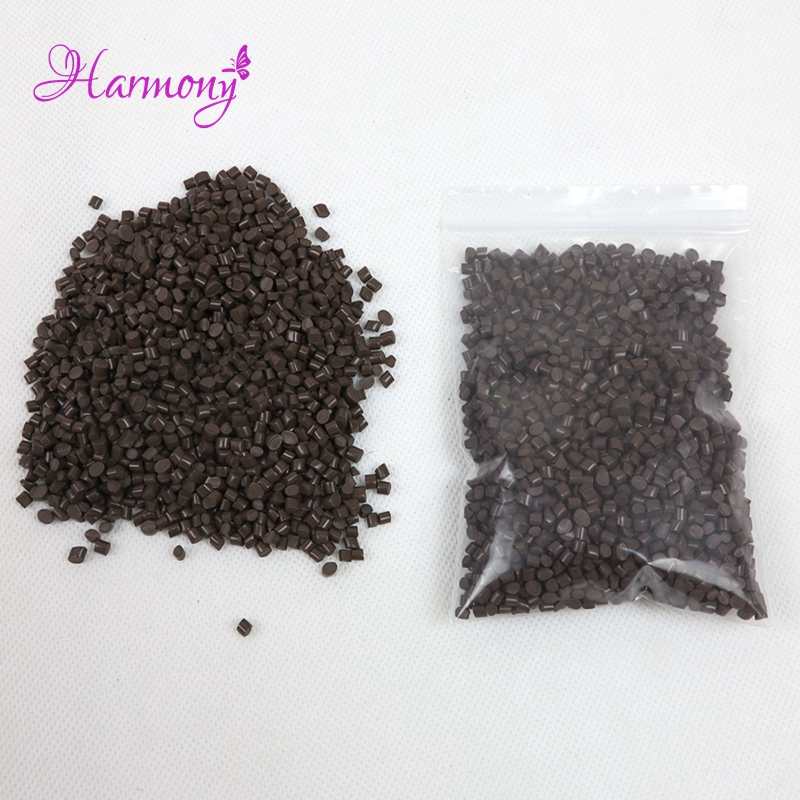 500g/bag brown Color Strong Adhesion 100% real Italian Keratin Glue /beads/grain for I tip/ U-tip hair, Fushion glue