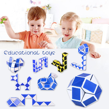 цены 1/3pcs Educational Toys Snake Magic Variety Popular Twist Kids Game Transformable Gift Puzzle Great For Releasing Stress