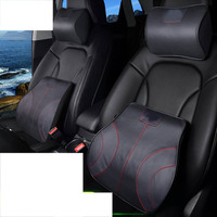 lsrtw2017 leather car seat pillow headrest lumbar for land rover discovery sport discovery 5 3 4 range rover sport evoque vogue