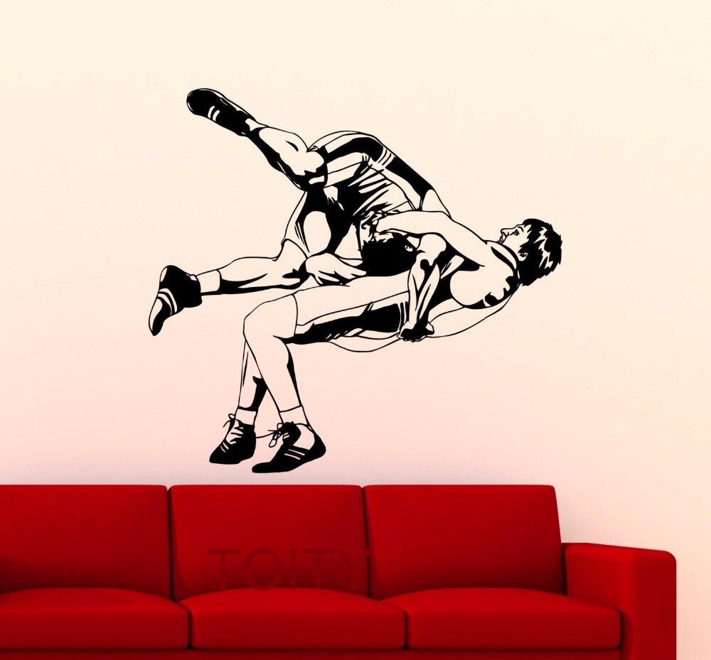 font wrestling font poster wall sticker sports wrestler vinyl wwe logo wall decal shop fathead wwe decor