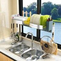 Sinoya 304 кухонная полка из нержавеющей стали дренажная стойка для раковины чаша посуда палочки для еды принадлежности дренажная стойка