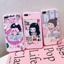 VR VAVA Silicone TPU Soft Phone Case For iPhone 7 8 Plus X XS XR Xs Max Cases Bathing Girl Cover 6s Fashion