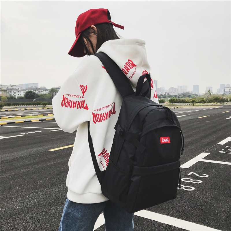 Unisex Women Waterproof Nylon Backpack for Men Boy Brand New School Bag for Girls Women Backpack Ladies Shoulder Bags in Backpacks from Luggage Bags