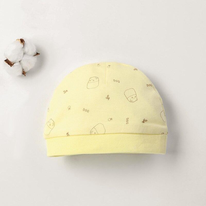 Детская шапка для 0-12 месяцев, хлопок, унисекс, мягкая милая детская шапка, шапка для новорожденных мальчиков и девочек на все сезоны, Мультяшные Шапки для малышей - Цвет: Черный
