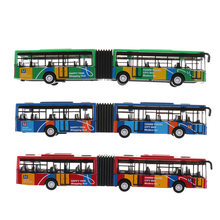1PCS toys Blue/Red/Green Alloy Tourist Bus Model Two-Door City Bus Toys for Kids Child(China)