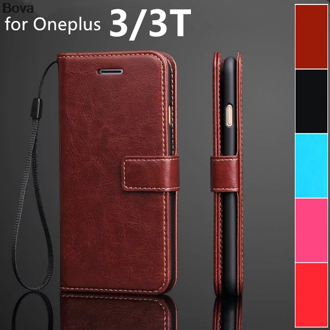 Oneplus 3T A3010 card holder cover case for Oneplus 3 A3000 1+3 3T Pu leather phone case ultra thin wallet flip cover